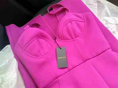 Natalia G. verified customer review of Double Crepe Harper Dress Fuchsia