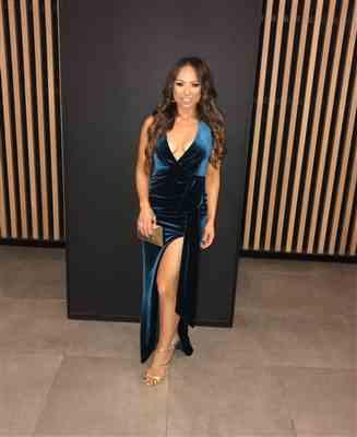 Latoya C. verified customer review of Vixen Velvet Gown Teal