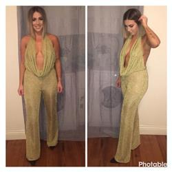 Brittney C. verified customer review of Olivia Wide Leg Mesh Pantsuit
