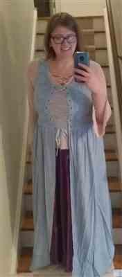 Holly Brandon verified customer review of Brigid Maxi Overdress