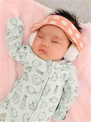 Roselle N. verified customer review of New Junior Baby Earmuffs - Peachy Keen