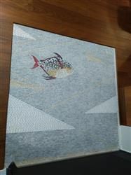 Ruby Chen verified customer review of Beautifully colored Fish Marble Mosaic