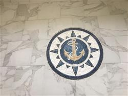 Mozaico Anchor on Blue Background Nautical Mosaic Medallion Review