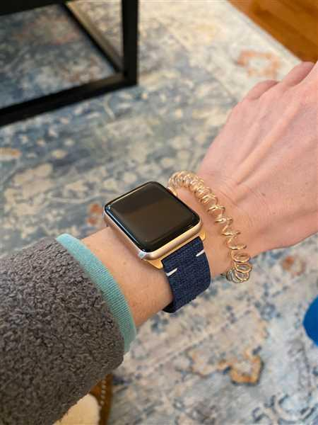 Anonymous verified customer review of Urban Canvas Band - Denim Blue / Gold (Series 3 4 &5) Aluminum / 38mm | 40mm