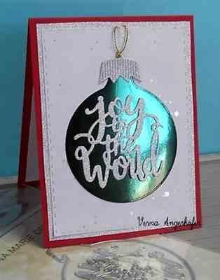Verna Angerhofer verified customer review of Joy To the World Ornament Die Set by Gina Marie