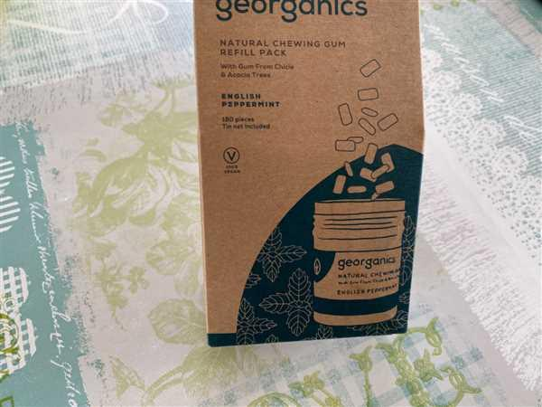 Georganics Natural Chewing Gum - English Peppermint Review