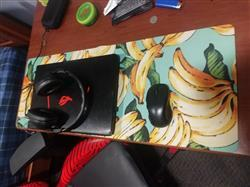 Ian L. verified customer review of Banana Pattern Desk Mat