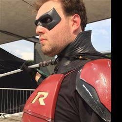 jak morris verified customer review of Cosplay neck piece - neck armor, neck seal for your cowl or helmet - #2