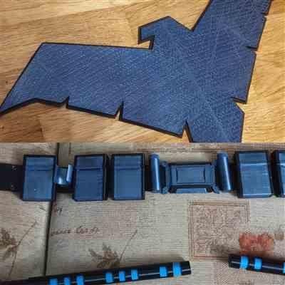 Oliver mason verified customer review of 1 or 2-Tone BvS / Rebirth / Young Justice mashup Nightwing inspired chest emblem (metallic blue, blue or dark blue etc)