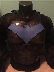 Keenan Grumley verified customer review of 1 or 2-Tone BvS / Rebirth / Young Justice mashup Nightwing inspired chest emblem (metallic blue, blue or dark blue etc)