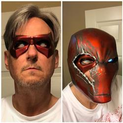 Mark Robards verified customer review of Arkham Knight inspired Robin mask - Jason Todd, Red Hood, Tim Drake - Can be made in various colors