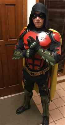Jason Lane verified customer review of Arkham Knight inspired Robin mask - Jason Todd, Red Hood, Tim Drake - Can be made in various colors