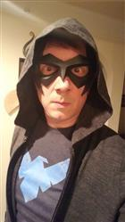 Nathan Higgins  verified customer review of New 52 inspired Nightwing Sidekick Superhero Mask - (can be made in various colors)