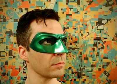 Zac Ellis verified customer review of Green, red, blue, white etc Lantern Hal Jordan, Alan Scott etc inspired Lantern mask (can be made in various colors)