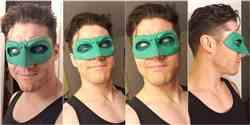Zack Santiago verified customer review of Green, red, blue, white etc Lantern Hal Jordan, Alan Scott etc inspired Lantern mask (can be made in various colors)