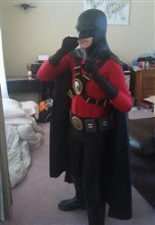 Sean Kudulis verified customer review of Earless comic cowl (original design) - Great for Red Robin, Space Ghost, Midnighter etc cosplays :)