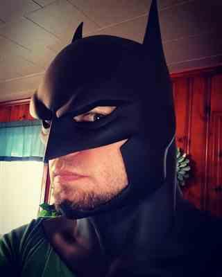 Brandon Strickland verified customer review of Batman animated movie Justice League War inspired cowl / mask - Batman Bad Blood, Justice League Dark etc.