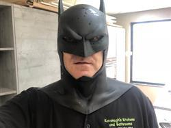 mark clements verified customer review of Batman animated movie Justice League War inspired cowl / mask - Justice League Dark, Batman Bad Blood etc - Larger cowl