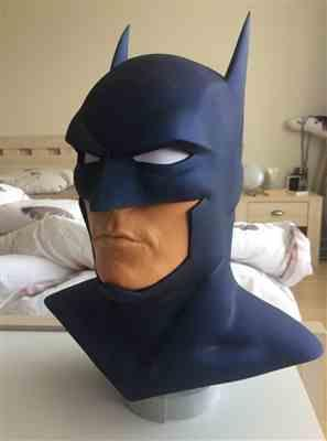 Raymond Schram verified customer review of Batman animated movie Justice League War inspired cowl / mask - Justice League Dark, Batman Bad Blood etc - Larger cowl