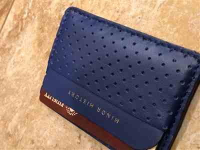 Kristin W. verified customer review of Card Wallet <br> Vegetable Tanned Black