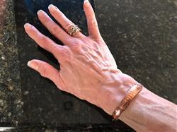 Helena B. verified customer review of Copper Wrap Healing Bangle