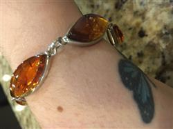 camille m. verified customer review of Amber Cabachon Bracelet