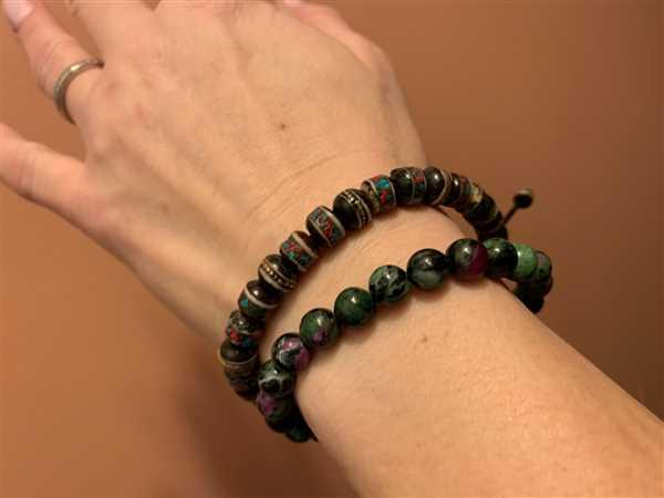 Nanje Purat verified customer review of Ruby Zoisite Bead Bracelet