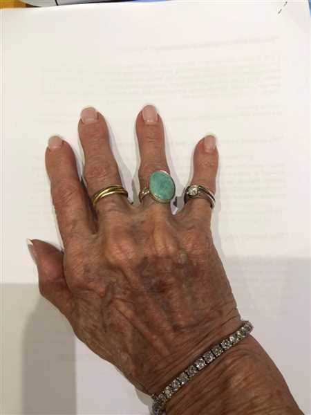 Anonymous verified customer review of Amazonite Gemstone Ring - Adjustable