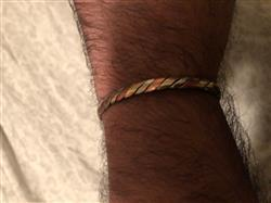 Nicholas L. verified customer review of 3 Metal Twisted Healing Bangle