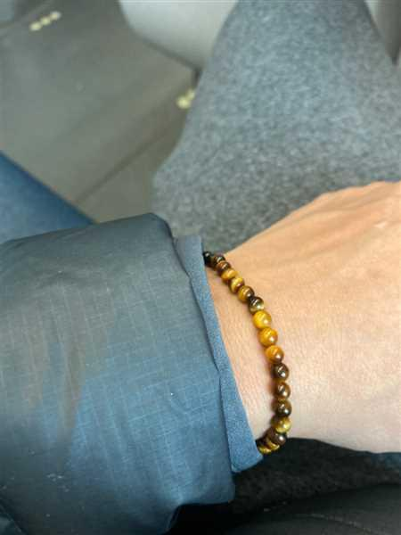 Anonymous verified customer review of Tiger Eye Mini Energy Gemstone Bracelet