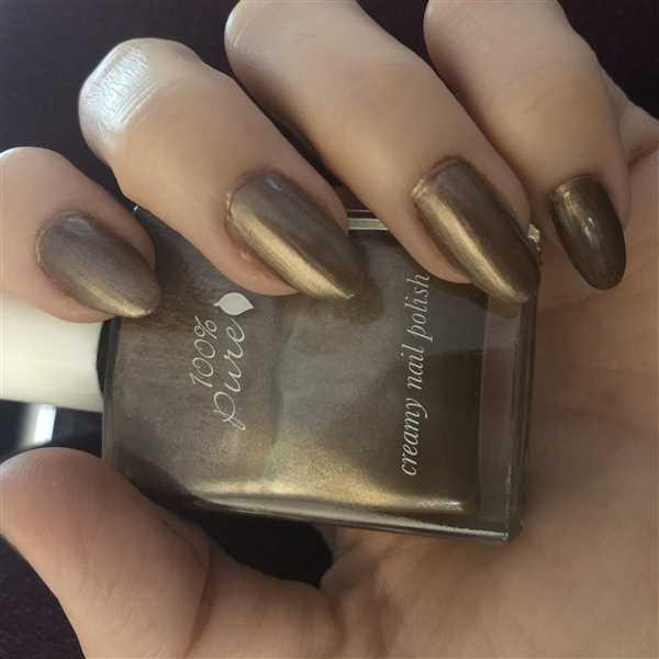 100% PURE Creamy Polish: Truffle Review
