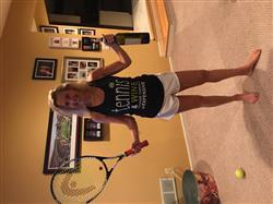 Mara F. verified customer review of Tennis and Wine - Ladies Racer Back Tank Top