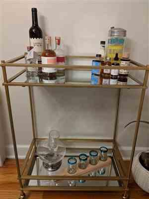 Angela O. verified customer review of Gold Mirrored Bar Cart