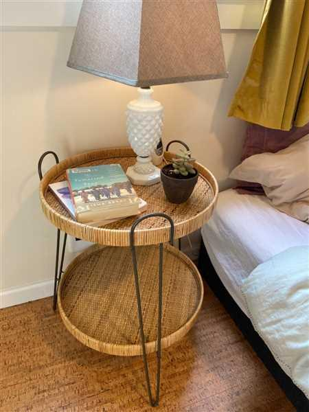 Holistic Habitat  Handwoven Rattan Removable Tray Table Review