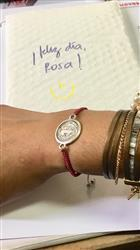 Rosa verified customer review of Pulsera de Macramé con Link Plateado Grande de San Benito