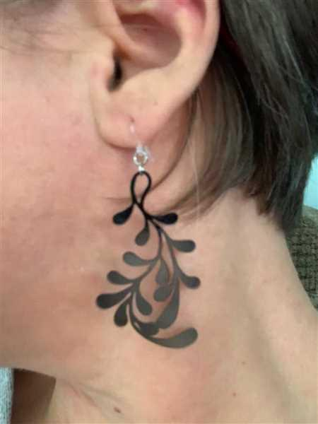 Amy Robe verified customer review of Kelp Forest Earrings (Dangles)