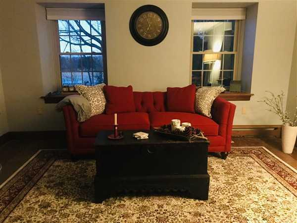 Gina Williams verified customer review of Isadore 84 Inch Fabric Queen Sleeper Sofa (Two Cushions)