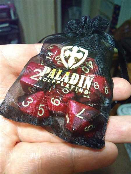Paladin Roleplaying 'Blood God' Red and Brown Dice - Expanded Polyhedral Set With Extra D20 Review