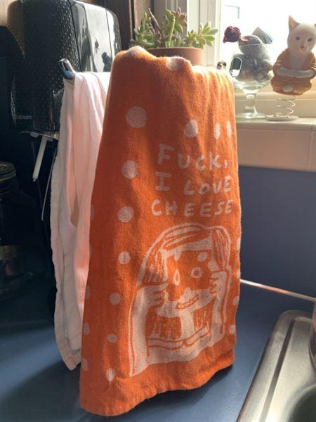 AlwaysFits.com Fuck, I Love Cheese Woven Dish Towel Review