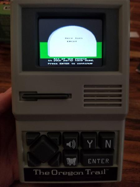 AlwaysFits.com The Oregon Trail Handheld Game Review