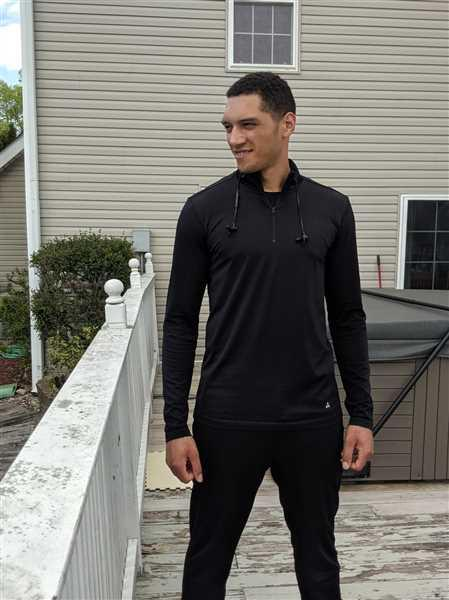 American Tall AT Performance: Men's Tall SLIM-FIT Long Sleeve Quarter Zip in Black Review
