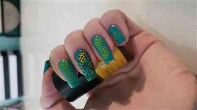 Loren  verified customer review of Pineapple Whip Nail Stamping Starter Kit - Plate, Polishes, Scraper & Stamper