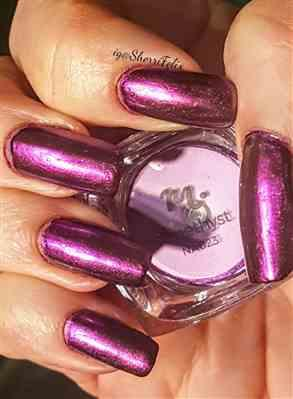 Sherri verified customer review of Amethyst (NA023) - Dark Purple Mirror Nail Art Powder