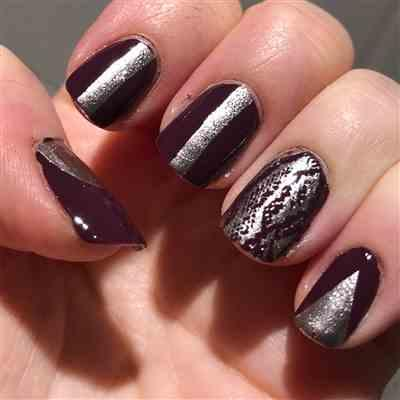 Sarah verified customer review of Mani x Me October 2019: Viper (B319) Dark Purple Stamping Polish