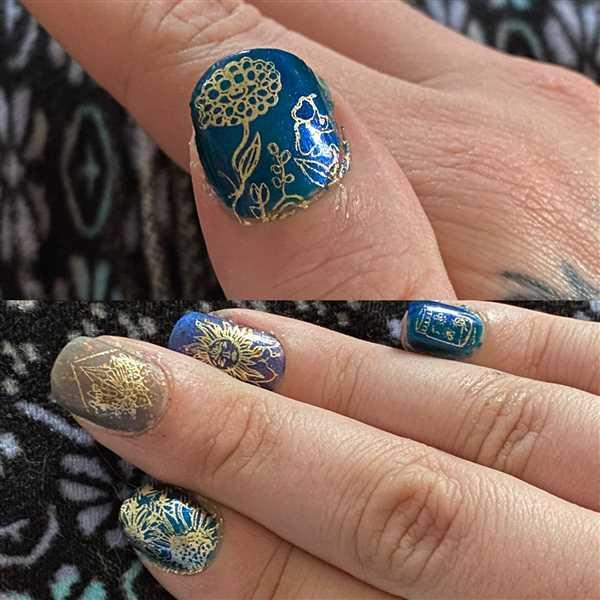 Maniology CYO Design Contest 2019: Mystical Floral (m096) - Nail Stamping Plate Review