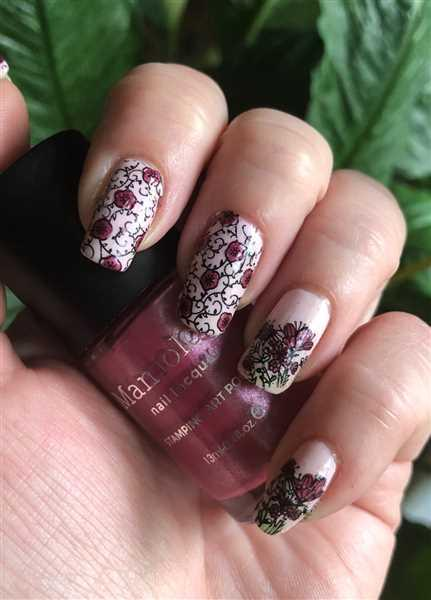 Maniology Morning Glory: Petunia (B337) - Metallic Pink Stamping Polish Review