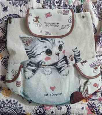 Boots N Bags Heaven Lovely Cat Canvas Backpack Review
