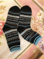 Sharon Adams verified customer review of Cozy Striped Socks - Fuzzy Winter Wool Socks Set