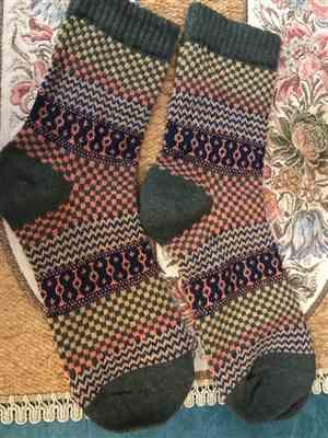 M***n verified customer review of Cozy Striped Socks - Fuzzy Winter Wool Socks Set
