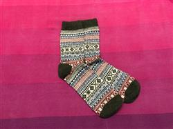 Camille E. Larson verified customer review of Cozy Striped Socks - Fuzzy Winter Wool Socks Set